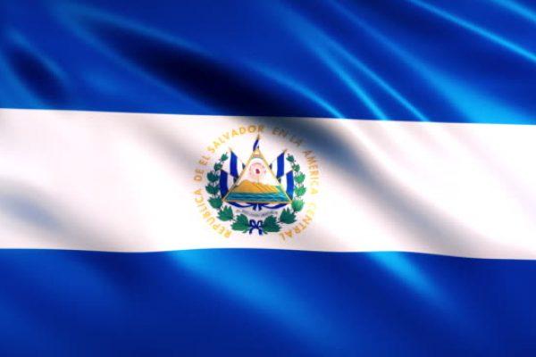 El Salvador Flag Animation (Close-up)